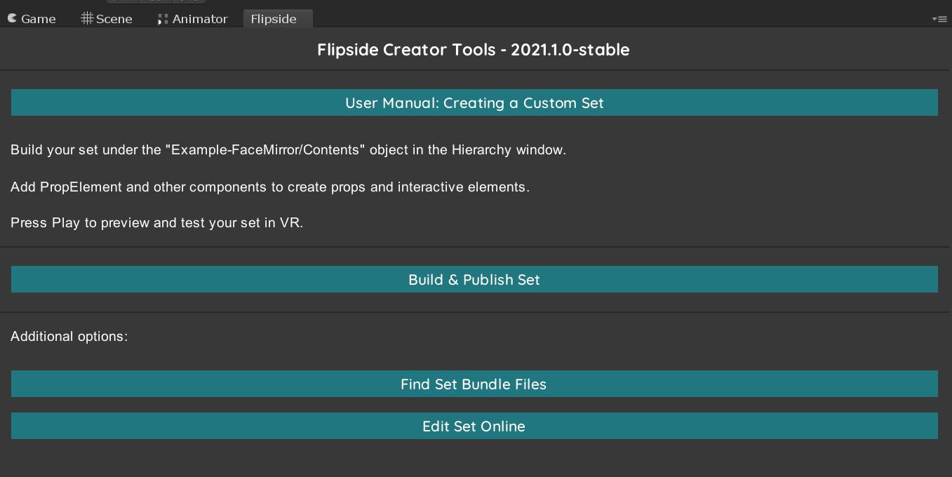 Flipside Creator Tools wizard