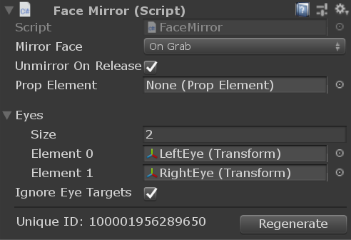 FaceMirror component