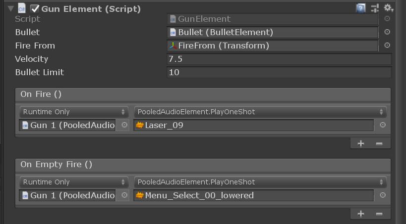 GunElement component
