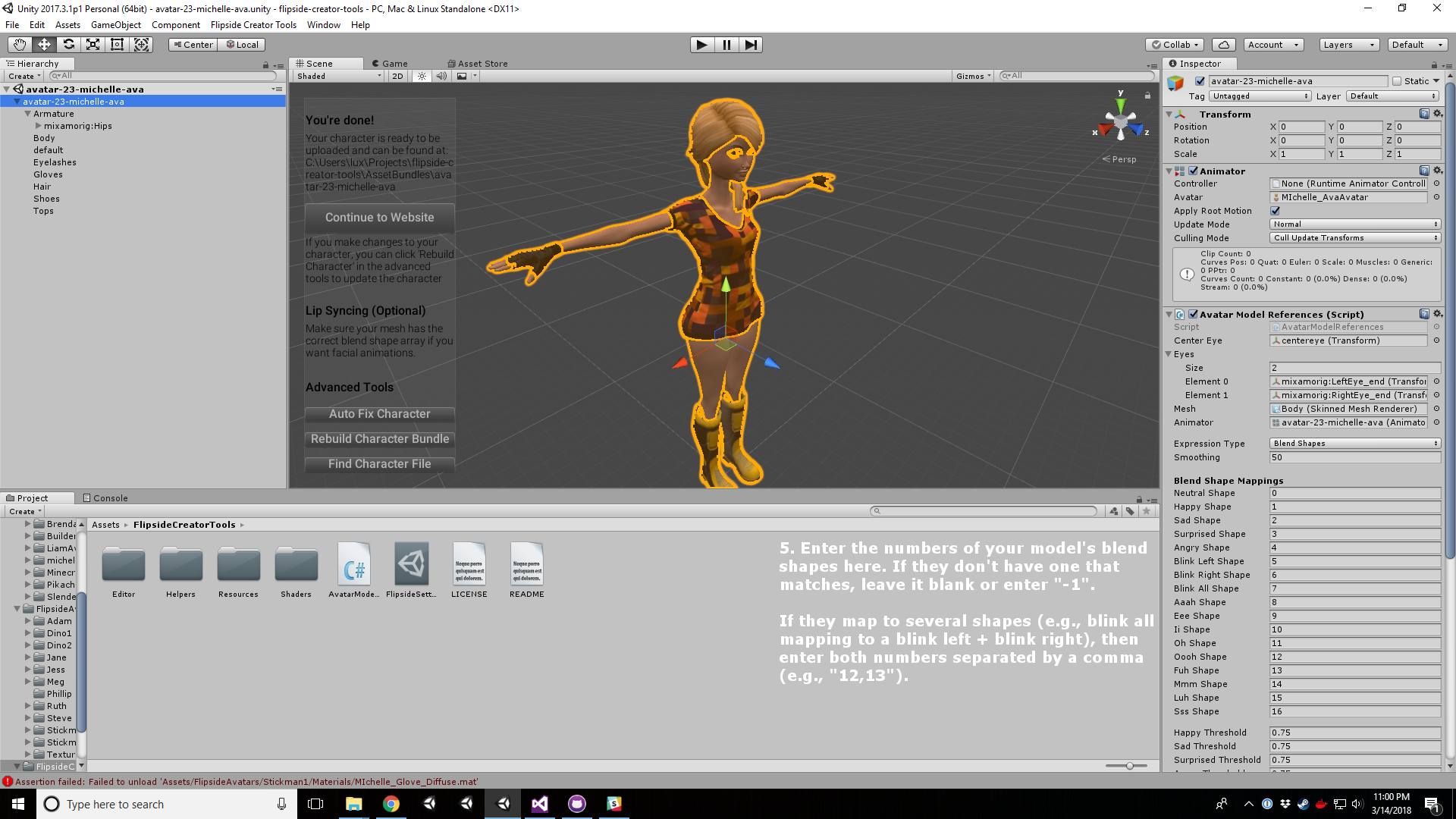 Blend shape mapping - step 3